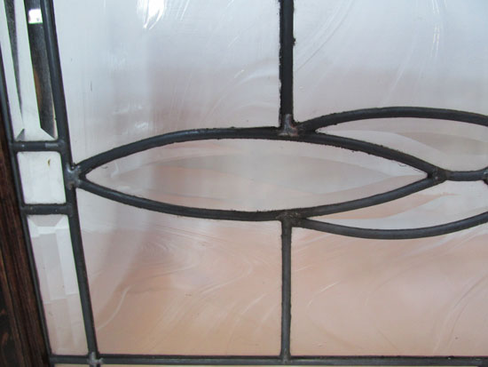 Beveled & Clear Glass Transom