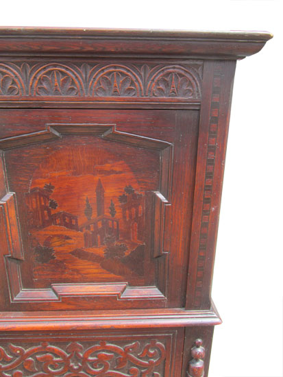 Inlaid Carved Cabinet