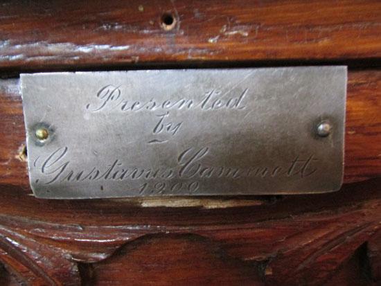 Fluted Oak Pedestal