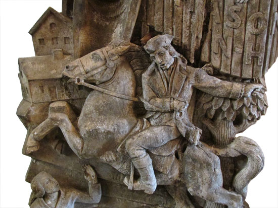 Paul Revere Plaster Relief
