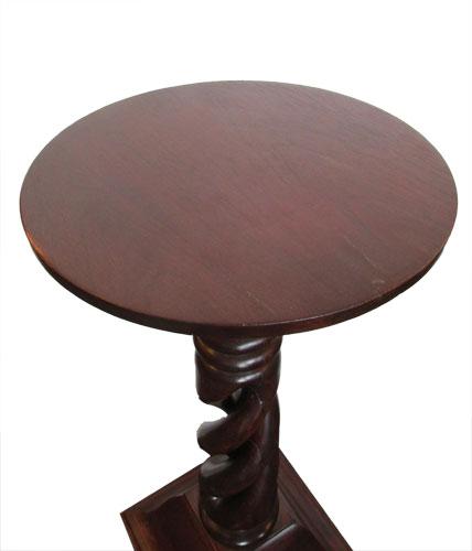 Mahogany Spiral Pedestal