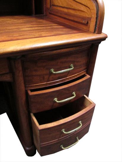 Mahogany Roll Top Desk Wooden Nickel Antiques
