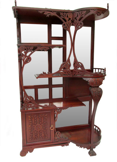 Cherry Etagere Wooden Nickel Antiques