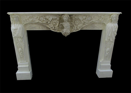 White French Figural Mantel