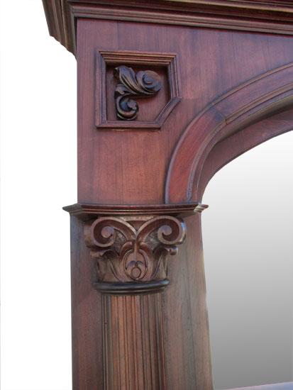 Arched Mahogany  Front & Back Bar