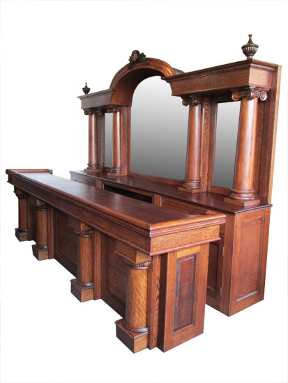 Antique Front Amp Back Bars Wooden Nickel Antiques