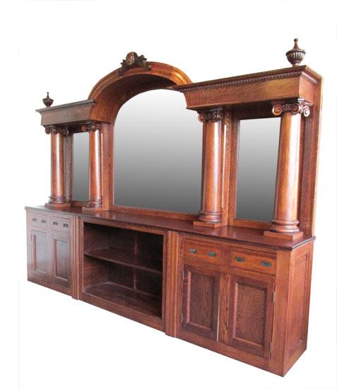 Arched Oak Front & Back Bar