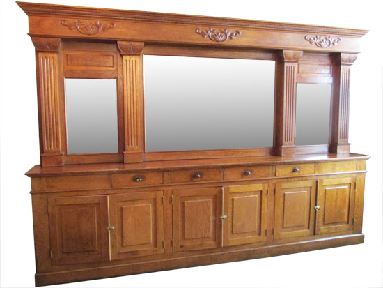 Eastlake Style Oak Back & Front Bar