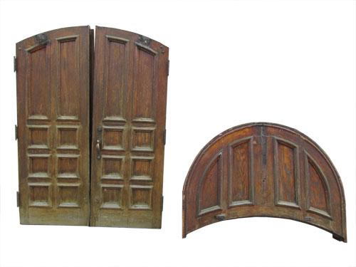 Pair Of Oak Arched Top Doors
