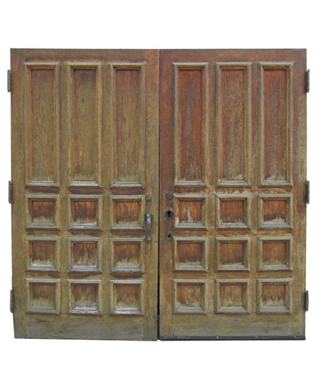 Pair Of Large Oak Doors