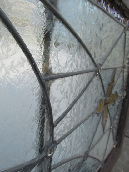 Large Clear Glue Chip Glass Window