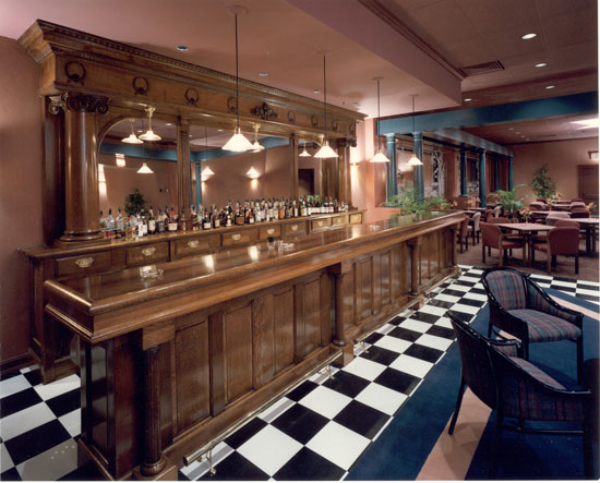 Brunswick Quarter Sawn Oak Back & Front Bar