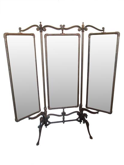 Rare Tri Fold Mirror