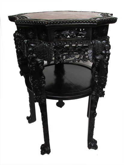 Marble Top Oriental Table Stand