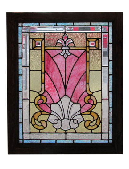 Bevelled And Stained Glass Window
