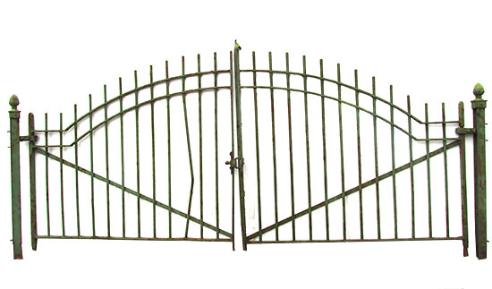 Set of Arched Driveway Gates