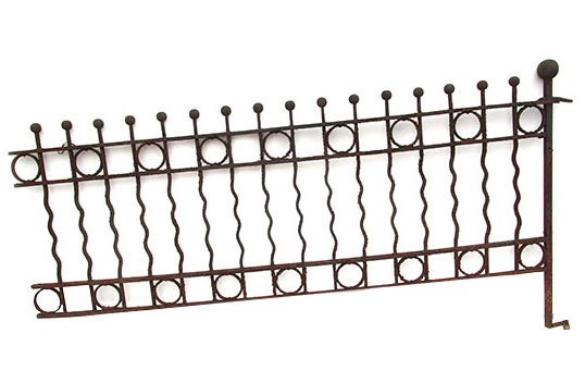 Wavy Ball Top Iron Fencing