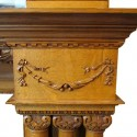 Large Triple Column Oak Mantel