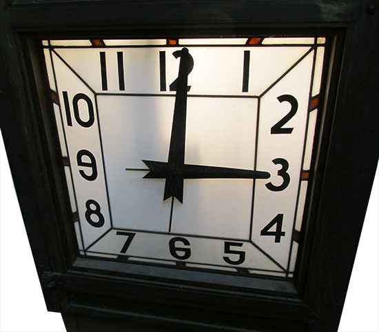 Four Sided Bank Clock