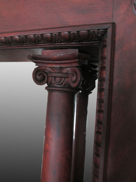 Full Mahogany Fireplace Mantel