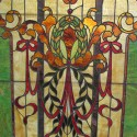 Arched Stained Glass Landing Window