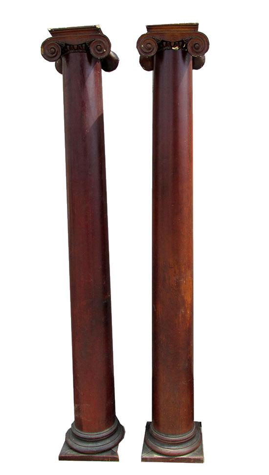 Pair Mahogany Columns