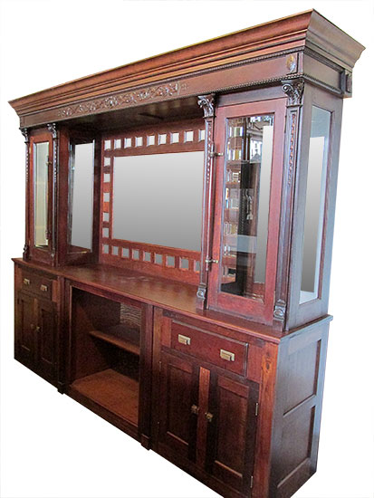 Mahogany Front & Back Bar