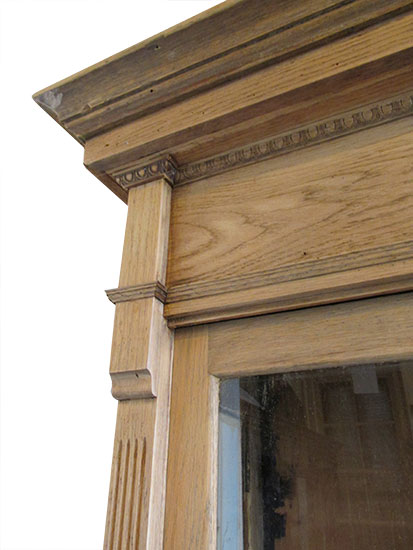 Oak Step Back Cabinet