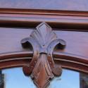 2 Door Walnut Bookcase