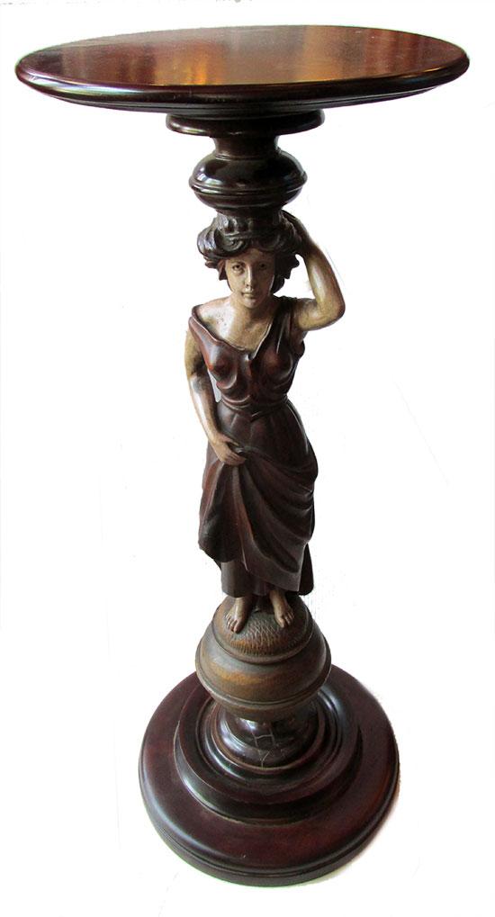 Wood Figural Pedestal
