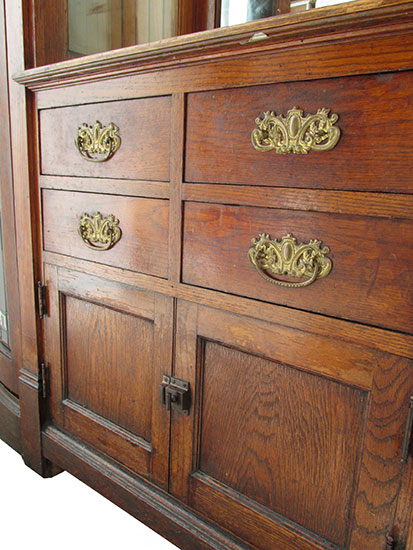 Oak Built In Cabinet