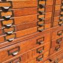 Oak Multi Drawer File Cabinet