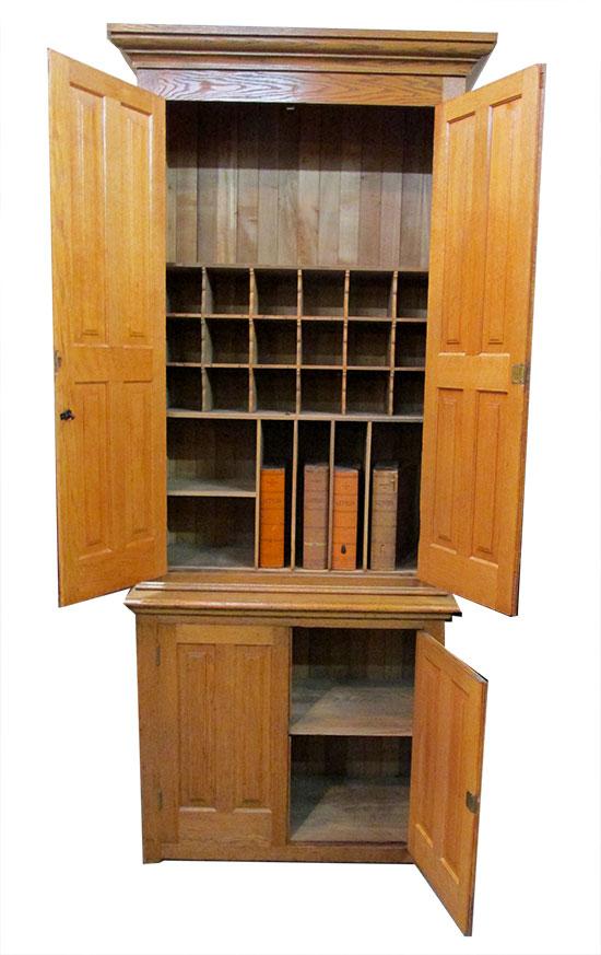 Oak Two Piece Cupboard