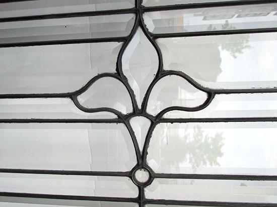 Large Beveled Glass Transom