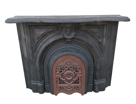 Cast Iron Mantel With Summer Cover
