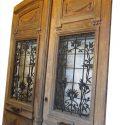 Pair Oak Entrance Doors