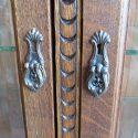 Carved Oak Display/ China Cabinet