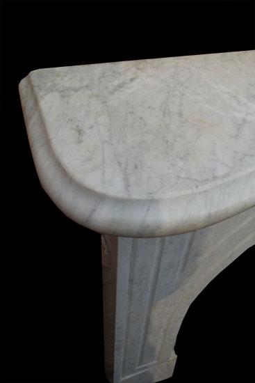 White/Gray Marble Mantel