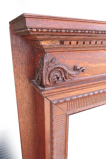 Carved Oak Half Mantel