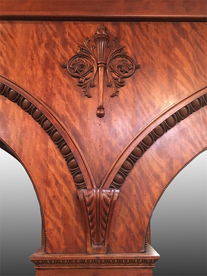 Mahogany Triple Arch Back Bar