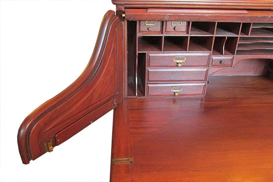 Large Mahogany Roll Top Desk