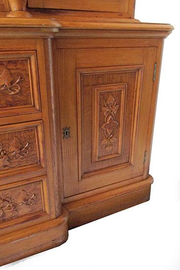 Carpathian Elm Bookcase, Circa 1880s-1890s