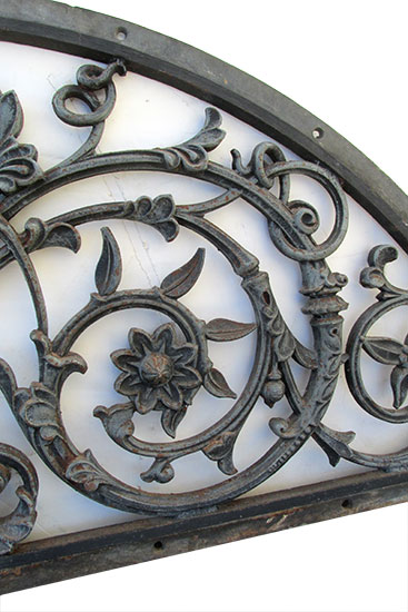 Pair Of Cast Iron Arch