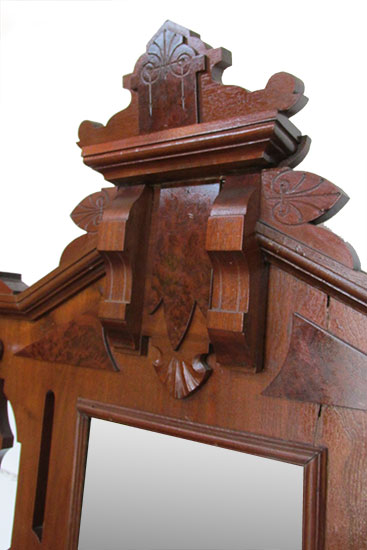 Walnut Hall Tree Wooden Nickel Antiques
