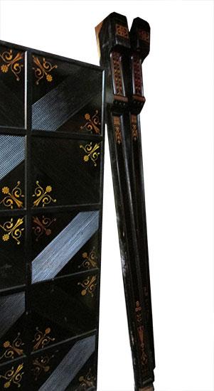 Ebonized Mantel With Paneling