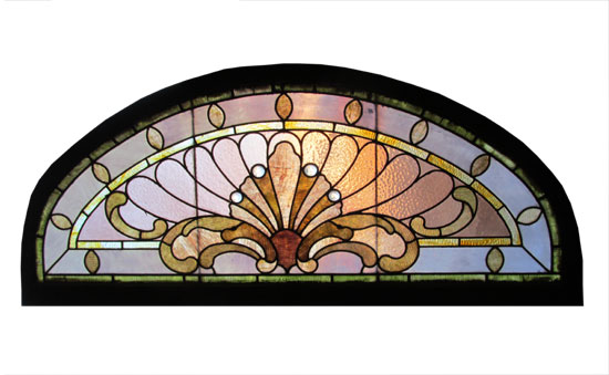 Arched Stained Glass Window