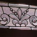 Clear Beveled Glass Transom