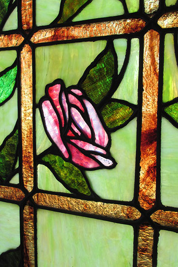 Large Stained Glass Window With Roses