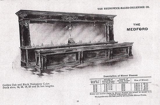 Brunswick Mahogany Front & Back Bar