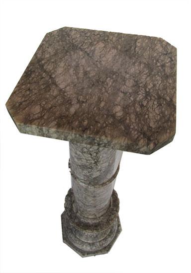 Gray Marble Pedestal